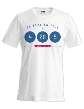Tee-shirt 4 20 5 De Père en Fils